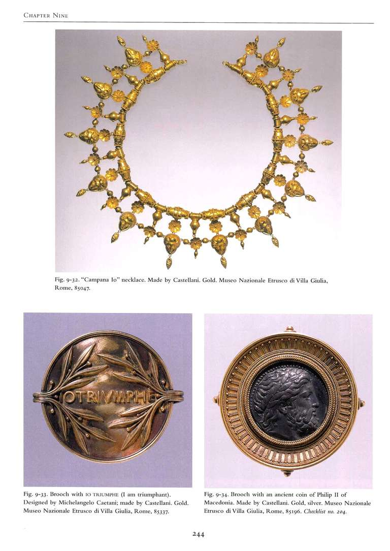 Castellani and Italian Archaeological Jewelry Book For Sale 2