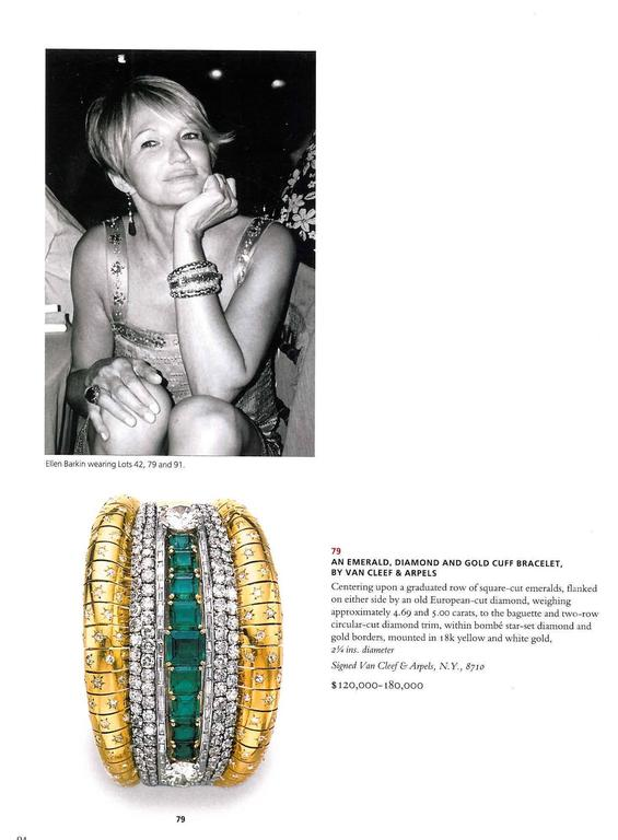 The is the beautiful catalogue that was produced by Christie's in October 2006 for the Magnificent Jewels which had been collected by actress Ellen Barkin. It is quite probably the most important single owner sale to have taken place in the 21st