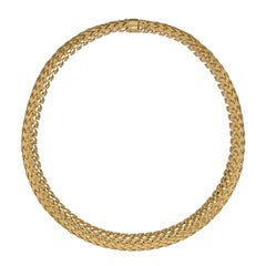 18 Carat Yellow Gold Vannerie Necklace by Tiffany & Co.