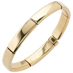 Hermes 18 Carat Yellow Gold Link Bracelet Bangle