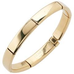 Hermes 18 Carat Yellow Gold Link Bracelet Bangle