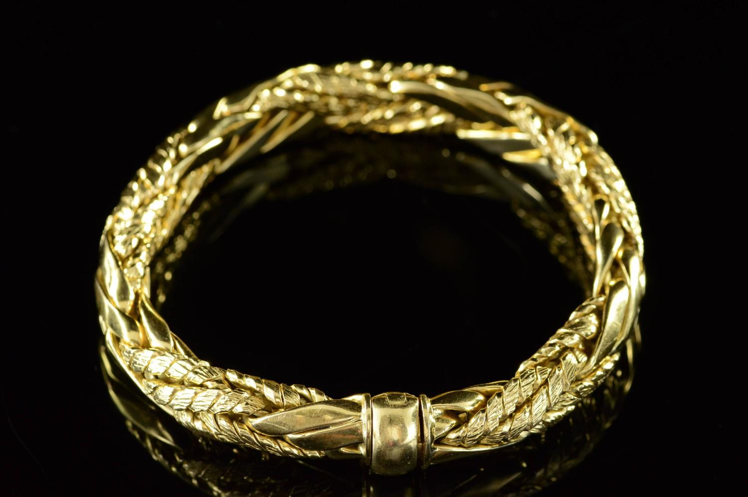 neiman marcus heavy braided link bracelet for sale at 1stdibs