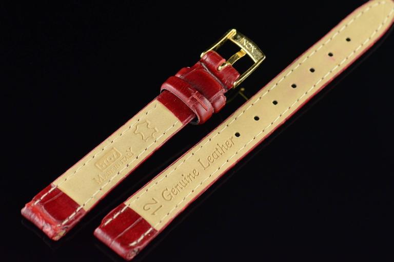 Delance Swiss Diamond & Gold Watch For Sale 5
