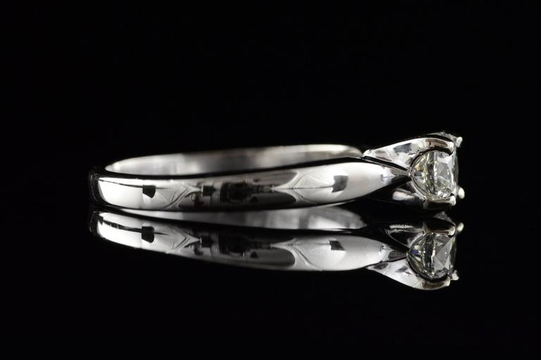 0.70 Carat Hearts on Fire Diamond Solitaire Engagement Ring In Excellent Condition For Sale In Frederick, MD