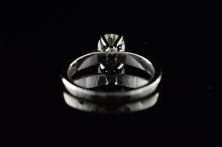 0.70 Carat Hearts on Fire Diamond Solitaire Engagement Ring For Sale 2