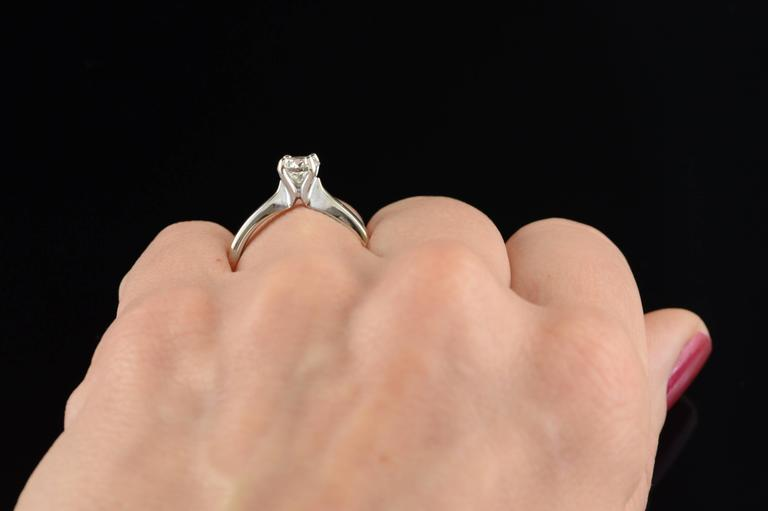 0.70 Carat Hearts on Fire Diamond Solitaire Engagement Ring For Sale 3