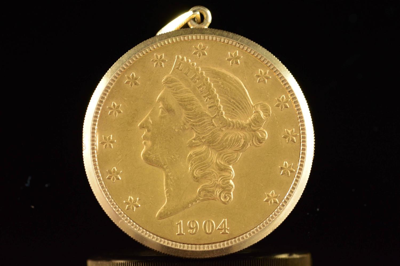 eska 20 us gold liberty pocket at 1stdibs