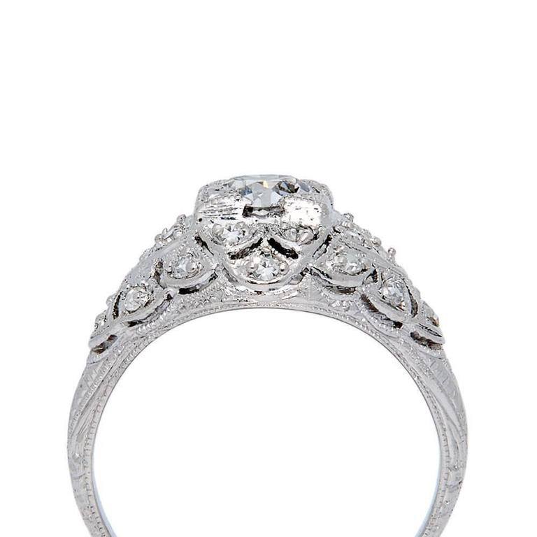 Spectacular Edwardian GIA Certified Diamond Platinum Engagement Ring 4
