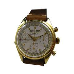 Rolex Yellow Gold Triple-Calendar Chronograph Dato-Compax Wristwatch Ref 6036