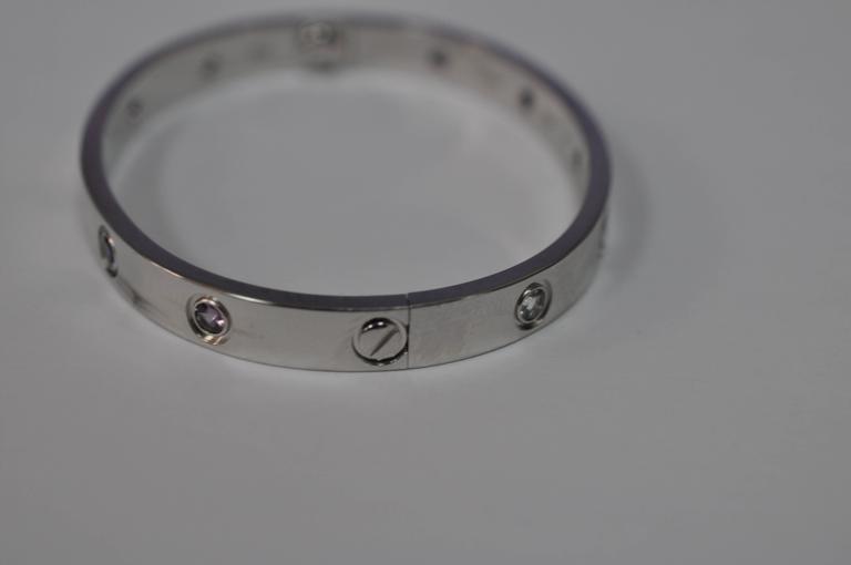 Cartier Aquamarines Sapphires Spinels Amethysts gold 16 Love Bracelet   3