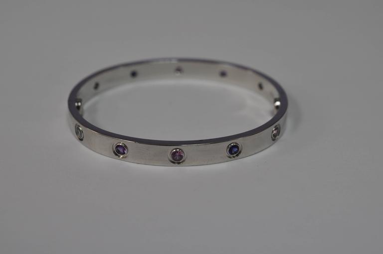 Cartier Aquamarines Sapphires Spinels Amethysts gold 16 Love Bracelet   6