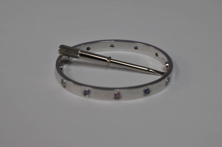 Cartier Aquamarines Sapphires Spinels Amethysts gold 16 Love Bracelet   7