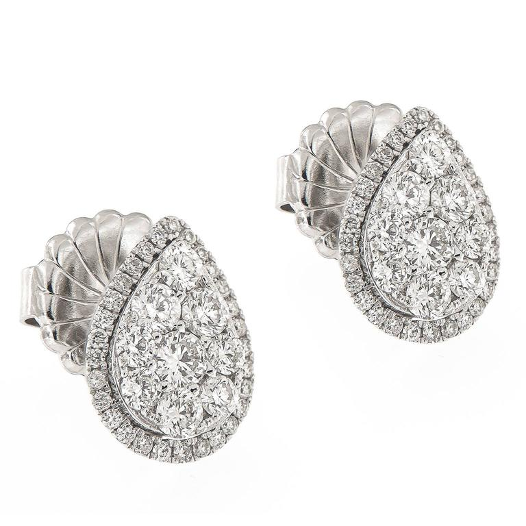 products earrings inc diamond square stud shaped cluster j shape a