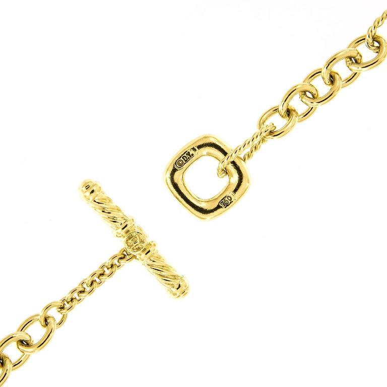 David Yurman Cushion Link Long Gold Necklace at 1stdibs
