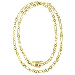 David Yurman Cushion Link Long Gold Necklace