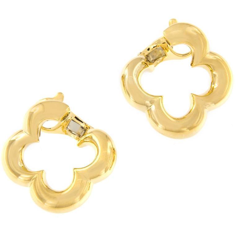 Gemlok Single Clover Gold Earring