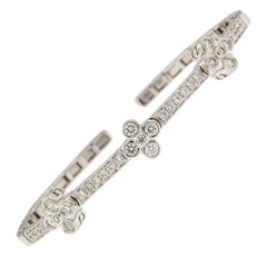 Diamond and White Gold Stacking Bracelet
