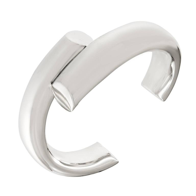 Tiffany & Co. Elsa Peretti Sterling Silver Cuff Bracelet For Sale