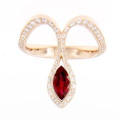 Baenteli Royale Marquise Ruby Diamond Ring