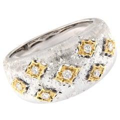 Italian Gold Diamond Band Ring