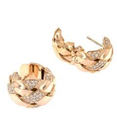 Garavelli Gold Diamond Huggie Earrings