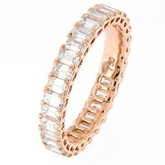 Diamond Rose Gold Eternity Band