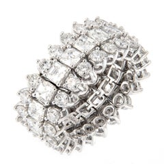 J. Stella Flexible Diamond Platinum Eternity Band