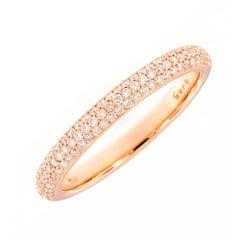 Diamond Rose Gold Band