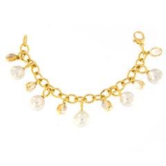Assael Baroque Pearl Moonstone Bracelet