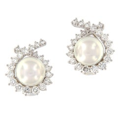 Angela Cummings South Sea Pearl Diamond Earrings