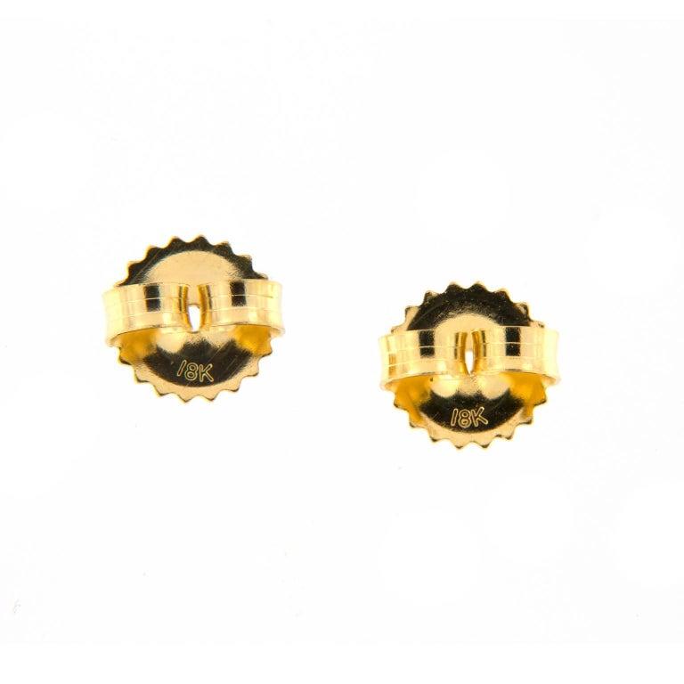 Goshwara Blue Topaz Diamond Dangle Drop Earrings For Sale 1