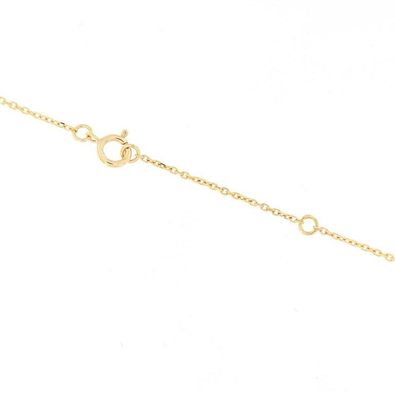 Women's Diamond Penguin Pendant Gold Necklace For Sale