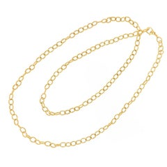 Lagos Yellow Gold Caviar Fluted Oval Link Necklace