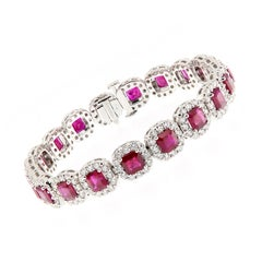 Ruby Diamond Gold Bracelet