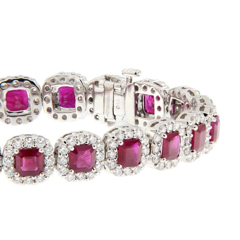 Ruby Diamond Gold Bracelet For Sale 2
