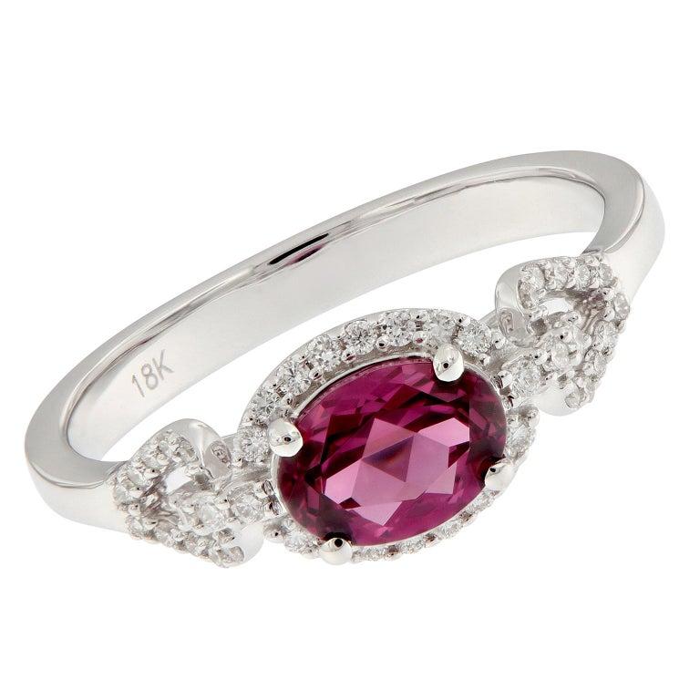 "Goshwara ""Gossip"" Garnet Diamond Ring"