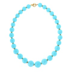 "Goshwara ""Beyond"" Sleeping Beauty Natural Turquoise Beaded Necklace"