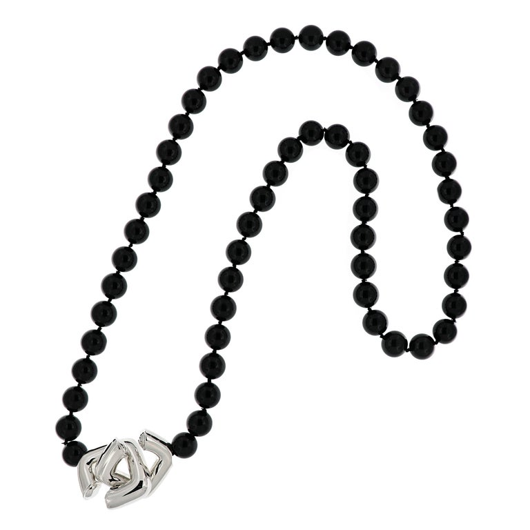 52e7068fc Tiffany Black Onyx Bead Necklace - The Best Price Necklace In 2018
