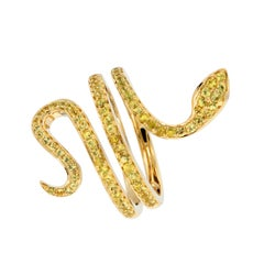 Yellow Sapphire Gold Serpent Ring