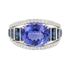 Suarez Tanzanite Sapphire Diamond Band Ring