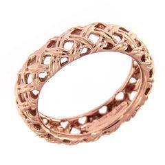 Jean Vitau Rose Gold Basket Weave Ring