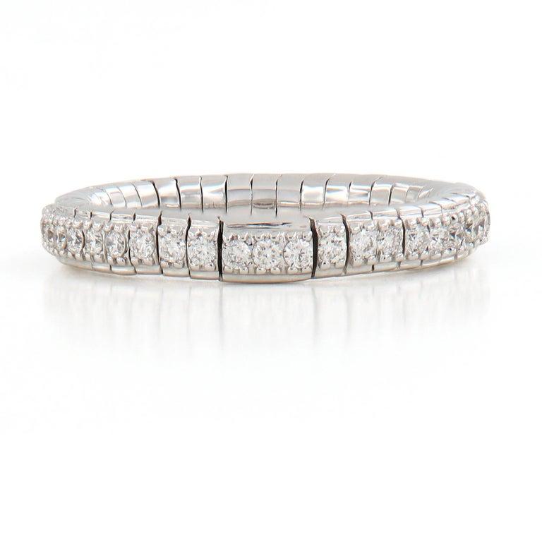 Women's Diamond Eternity White Gold Flexible Band Ring For Sale