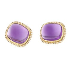 Goshwara 'Rock 'N Roll' Amethyst Gold Diamond Earrings