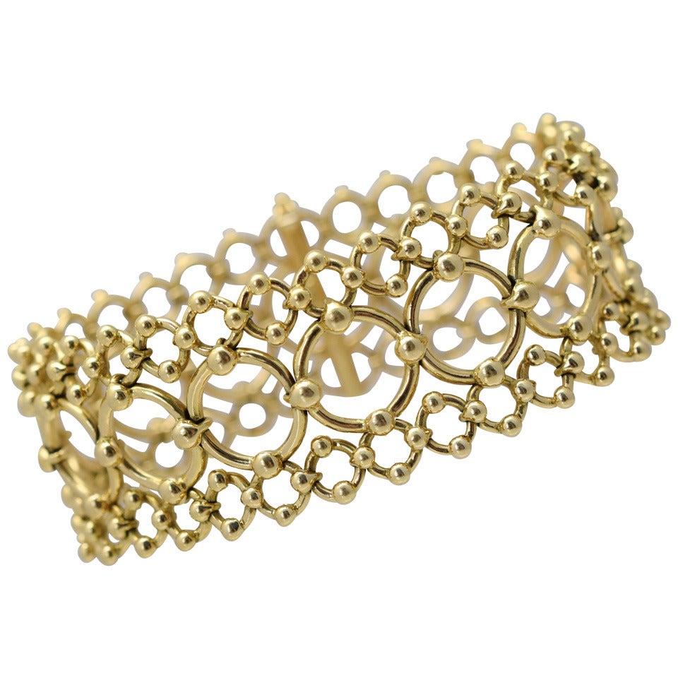 Tiffany & Co. Open Work Gold Bracelet