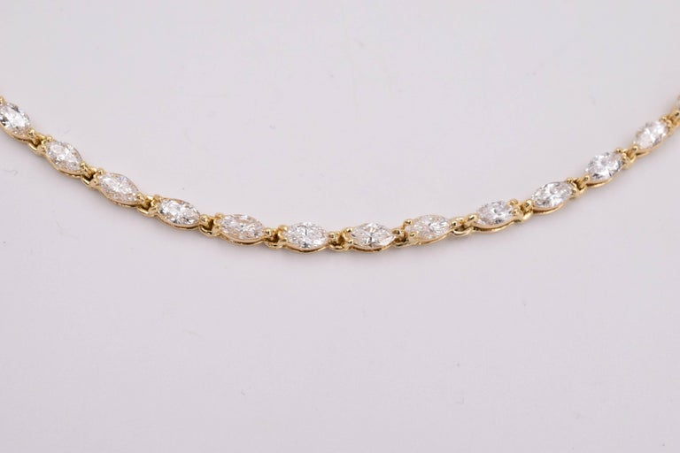 Marquise Cut Van Cleef & Arpels Diamond Necklace For Sale