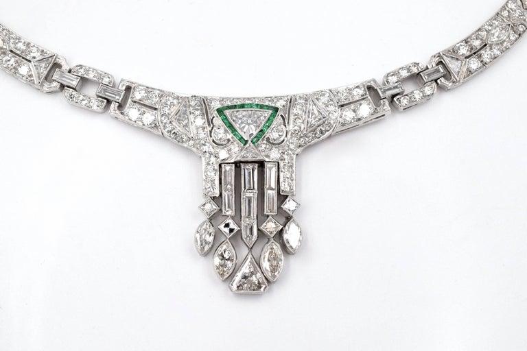 Women's Art Deco Diamond Necklace For Sale