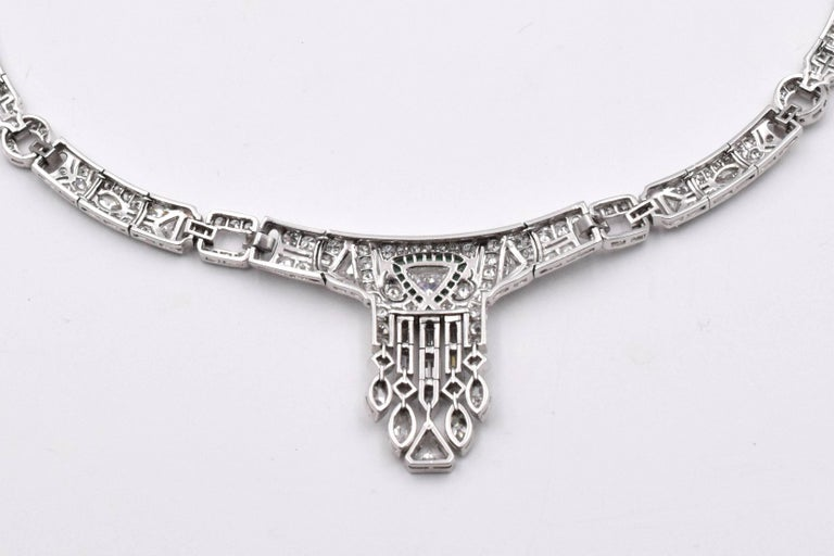 Art Deco Diamond Necklace In Excellent Condition For Sale In New York, NY