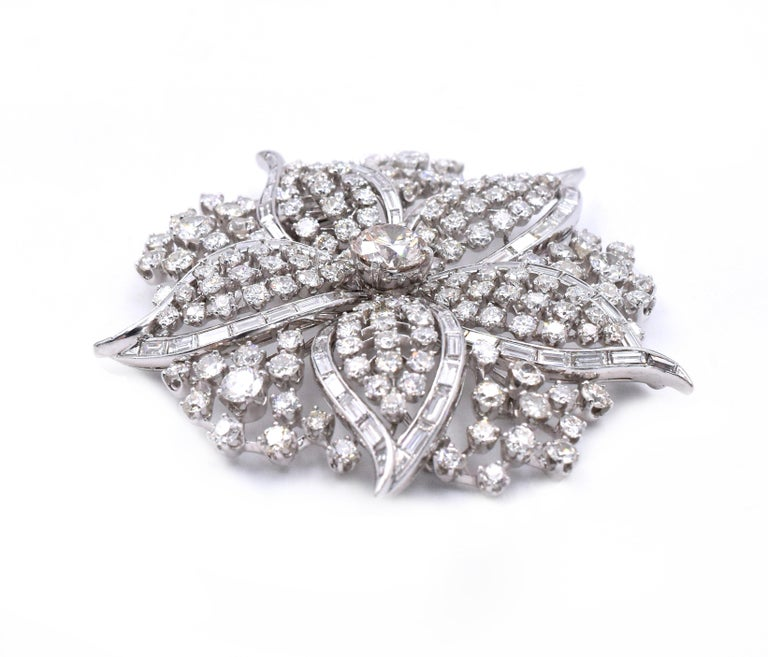 Round Cut Harry Winston Diamond Brooch For Sale