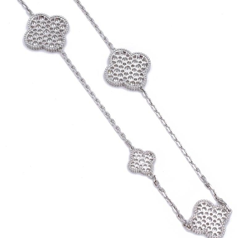 Artist Van Cleef & Arpels Diamond Magic Alhambra Necklace For Sale