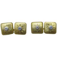 Buccellati Diamond & Gold Cufflinks